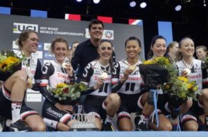 Born Italia Team Sunweb Donne Podio