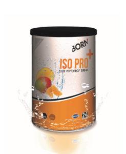 Prodotto bevanda isotonica energetica 2:1 con proteine e senza lattosio Born Iso Pro+ Mandarino Mango