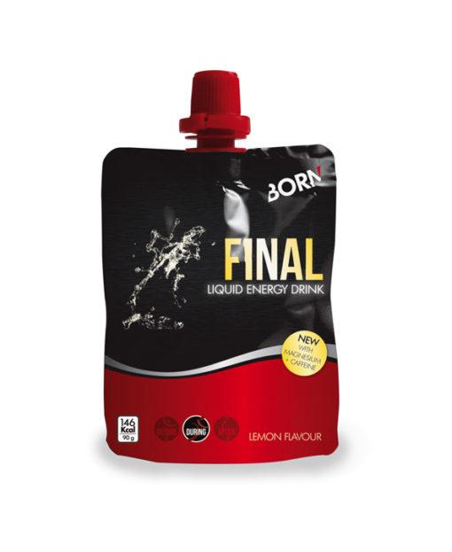 Prodotto liquido energetico con caffeina e magnesio Born Final Liquid Energy Drink Limone